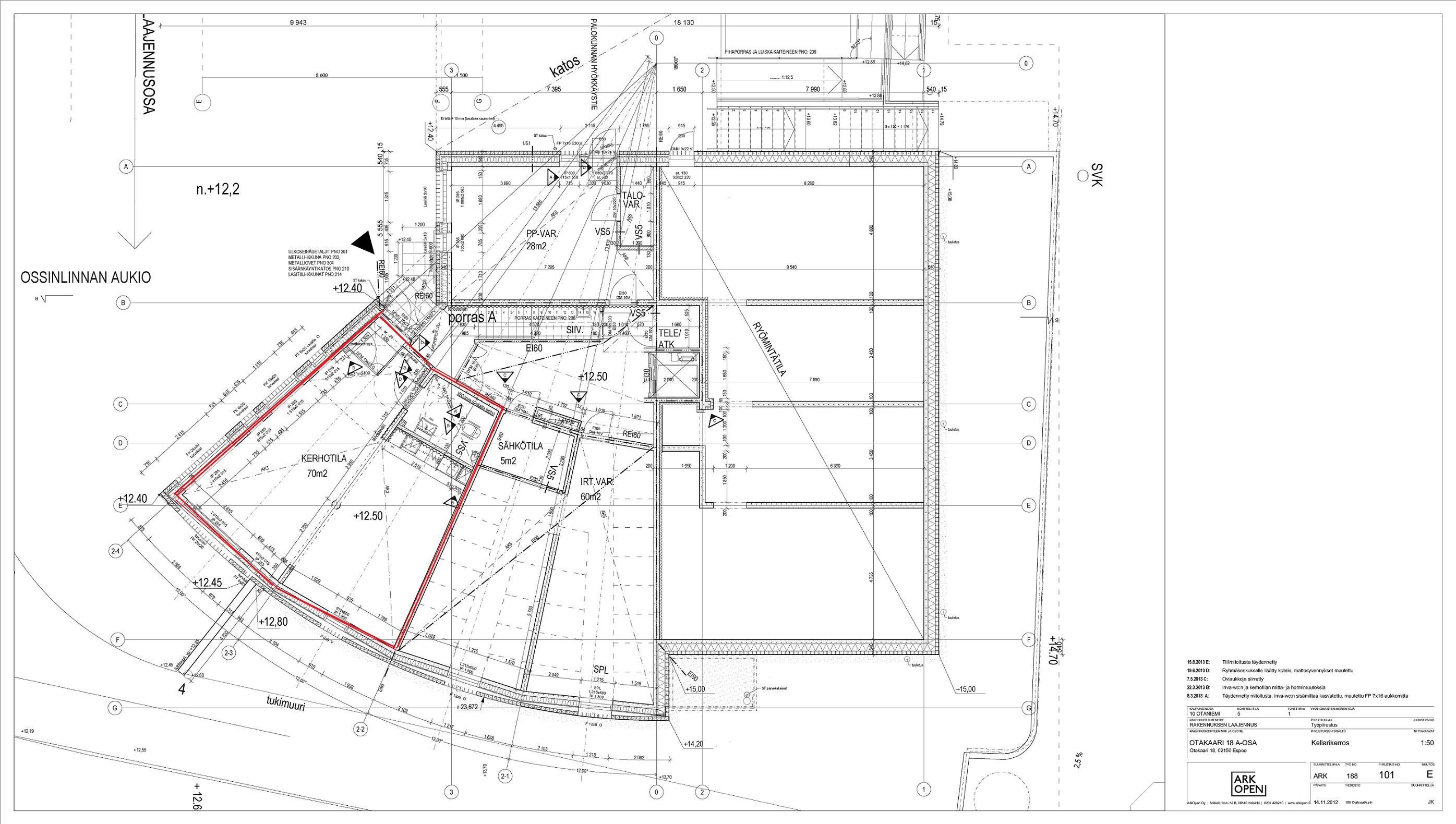 OK18A kellarikerroksen tila / ground floor facility